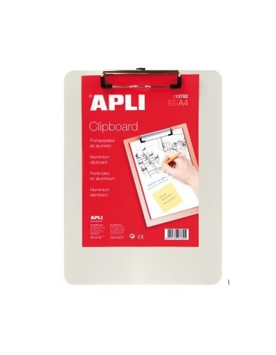 APLI A4 Metallic Clipboard