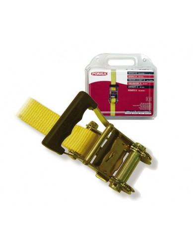 Ratchet Tie Down 35mm x 6m Yellow PONSA
