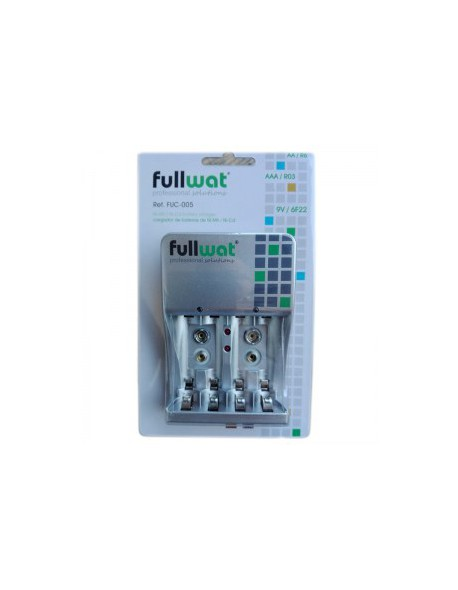 FULL WATT Charger for 4 batteries R3 (AA), R6 (AAA) and 9V (6LR61)